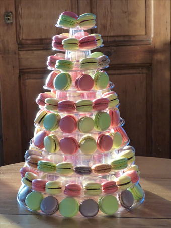 reception mariage macarons